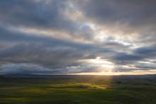 Sunrays Dance Across Above Gor...