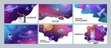 Four Colorful Space And Scienc...