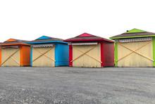 Multicolor Market Beach Huts V...