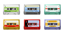 Set Of Retro Audio Cassettes, ...