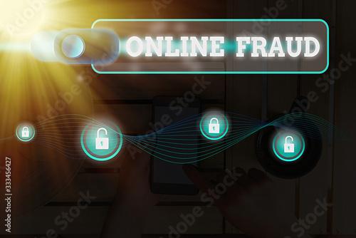 Word writing text Online Fraud Slika na platnu