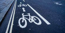 Cycle Lane Markings Painting O...