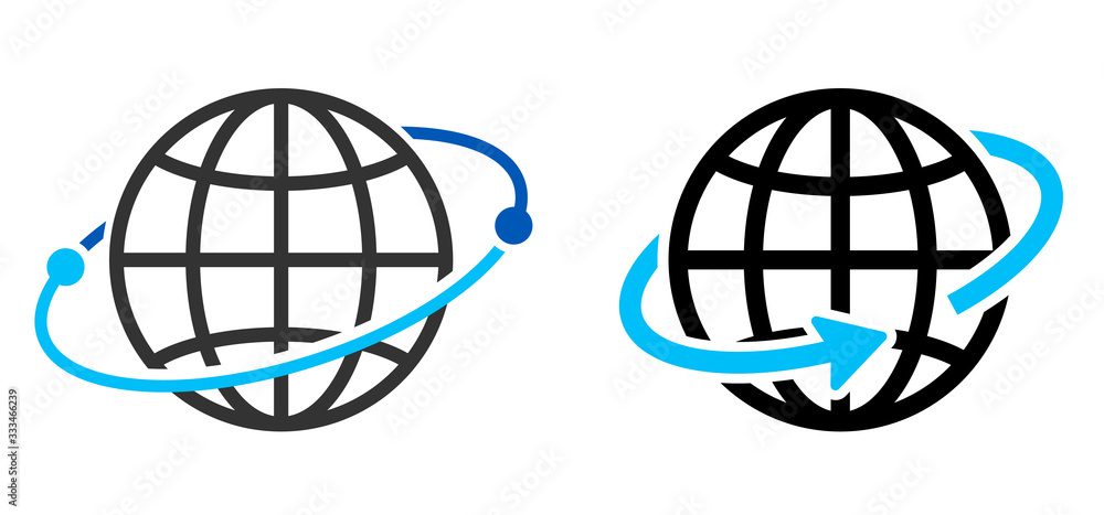 Fototapeta 地球のアイコン グローバルイメージ