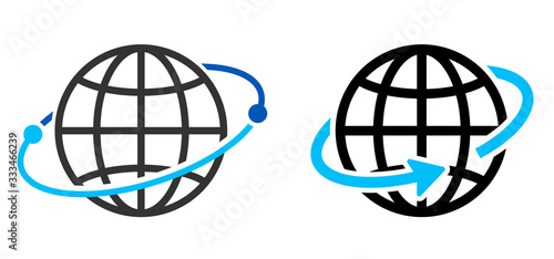Obraz 地球のアイコン グローバルイメージ - fototapety do salonu