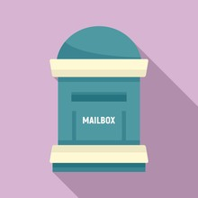 Office Mailbox Icon. Flat Illustration Of Office Mailbox Vector Icon For Web Design