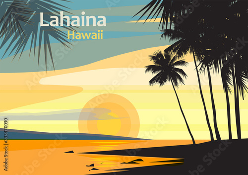 Fototapeta Lahaina in West Maui, Maui County, Hawaii, United States obraz