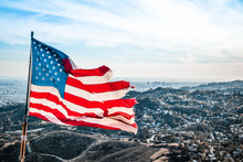 American Flag In The Wind - Wi...