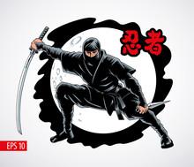 Ninja Warrior Attacks Vector I...