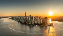 Sunrise Over New York City, Ae...