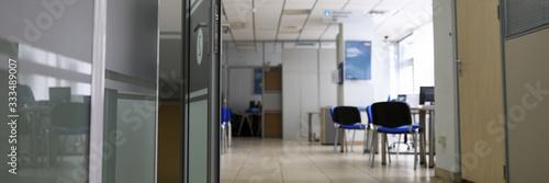 Photo Empty company office in time of coronavirus quarantine