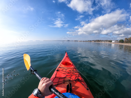 Photo kayak in mare