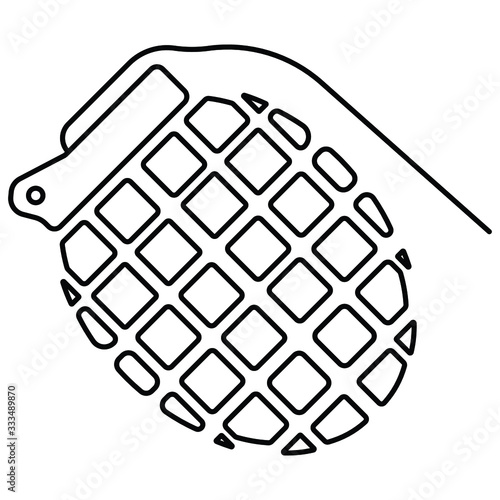 Grenade noire icon vector illustration Tablou Canvas