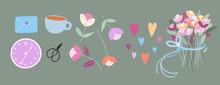 Vector Flowers. Elegant Soft F...