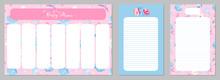 Pink Weekly Planner. Floral Pl...