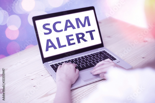 Photo Word writing text Scam Alert