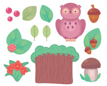 Colorful Clipart Set With Viol...