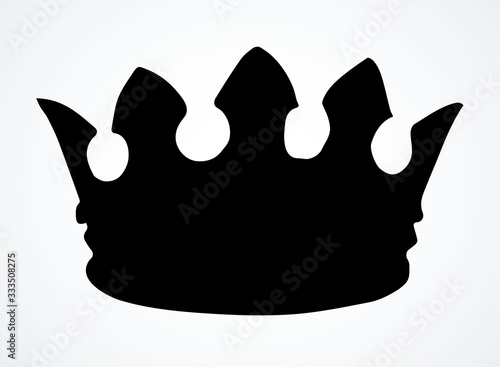 Precious golden crown. Vector drawing Tableau sur Toile