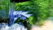 Hintergrund, Textur, Template: Blaue Lichtreflexe in Wasserstrudel in Waldbach