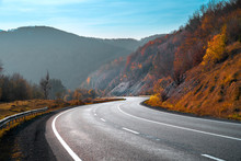 Autumn Landscape With Road In ...