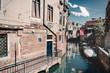 Hängende Wäsche über die Kanäle Venedigs