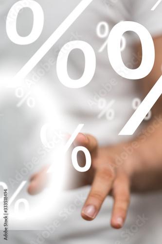 sale digital percent in hand - 333518494