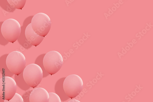 Fototapety, obrazy: a beautiful balloons background in love theme. love card which can use for writing to your couple