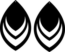 Etsy Double Teardrop Earring Template SVG File, Leather Earring Vector Cut File Cricut And Silhouette File