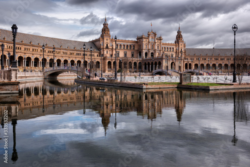 Fototapety, obrazy: beautiful Spanish square (Plaza de Espana) Seville, Spain