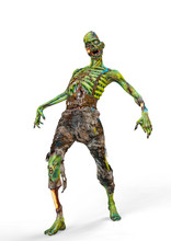 Zombie Is Dancing On White Background
