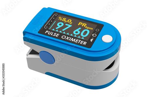 Stampa su Tela Portable Pulse Oximetry, pulse oximeter fingertip. 3D rendering