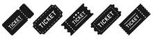 Ticket Simple Icon Set. Vector Illustration