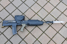 SA80 L85A2 Fitted With A Bayonet