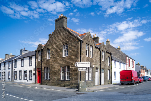 Port Ellen old town at Isle of Islay - popular travel destination of Hebrides ar Canvas Print