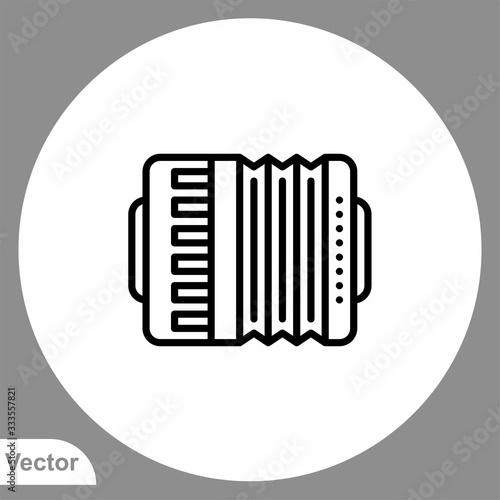 Accordion vector icon sign symbol Canvas Print