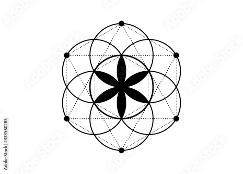 Seed of life symbol Sacred Geometry Canvas Print