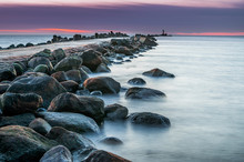 Long Exposure Of Baltic Sea Wi...