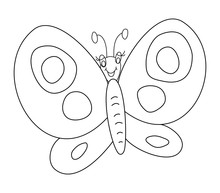 Butterfly Outline Vector Illus...