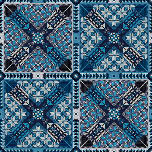 Palestinian embroidery pattern 309 Wallpaper Mural