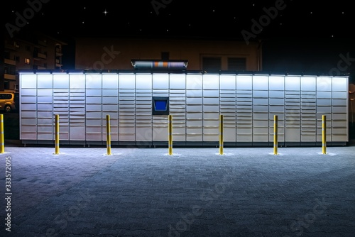 Fotografie, Tablou Electronic Locker,  automated parcel terminal (parcel locker, post terminal, ) o