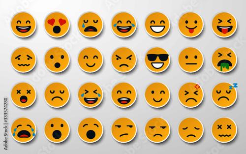 Emoji sticker set