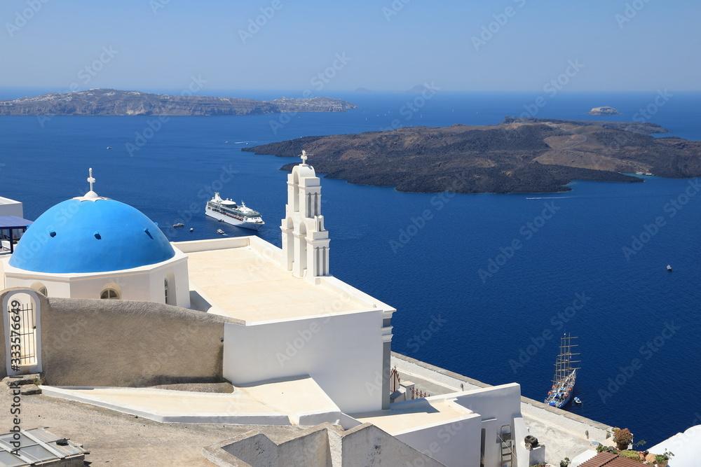Fototapeta Beautiful View of Oia on Santorini Island, Greece