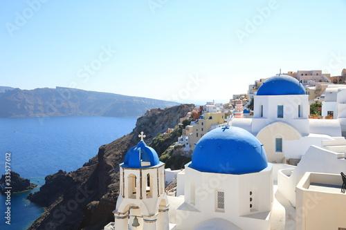 Fototapeta Beautiful View of Oia on Santorini Island, Greece obraz