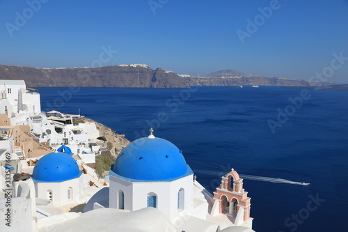 Fototapeta Beautiful View of Oia on Santorini Island, Greece obraz
