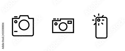 Set photo and video camera icon Fototapet