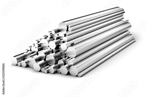 Leinwand Poster Stainless steel rods