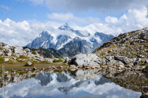 Lake and the mountain