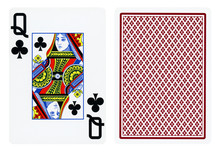 Queen Of Clubs Playing Card - ...
