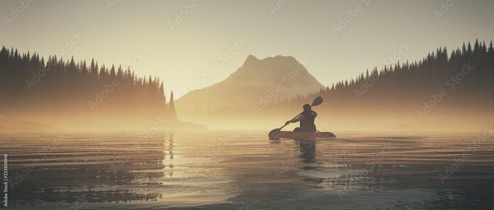 Fototapeta Kayak on lake