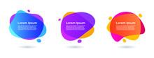Abstract Gradient Liquid Banner Set Collection,trendy Modern Background, Gradient Infographic Element Vector