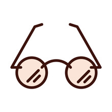 Hipster Glasses Fashion Trendy Line And Fill Icon